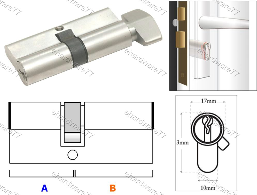 Euro Profile Turn Single Cylinder Lock (SGSC)