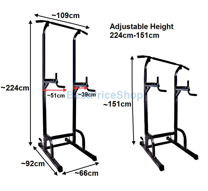 Europe Grade Chin Pull Up Dip Tower Station Abs Upper Body Exercise 85d09c2d5a14