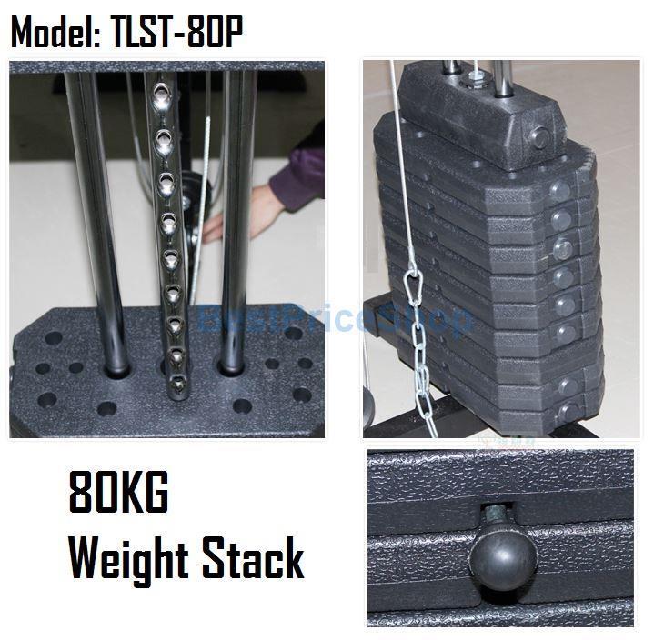Europe Grade Multi Function Home Gym Station Fitness Press Machine 80P