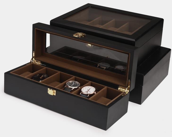 European Solid Wood Watch Storage Box Organizer Collection Display