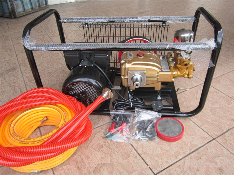 EuroPower 3.0HP Electric Motor Golden Plunger Power Sprayer Pump