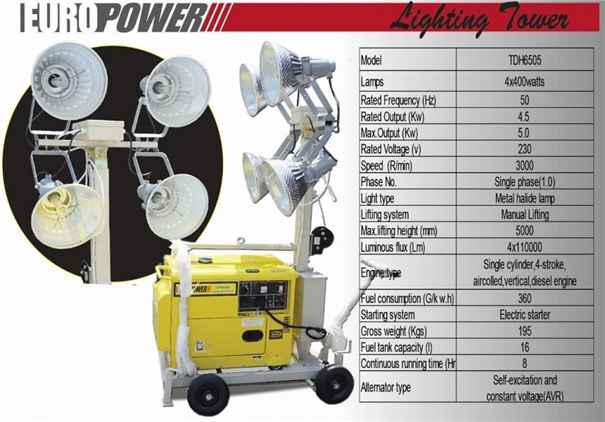 Eurox Mobile Tower Light Power by Disel Engine 4X400w TDH6505 ID779477