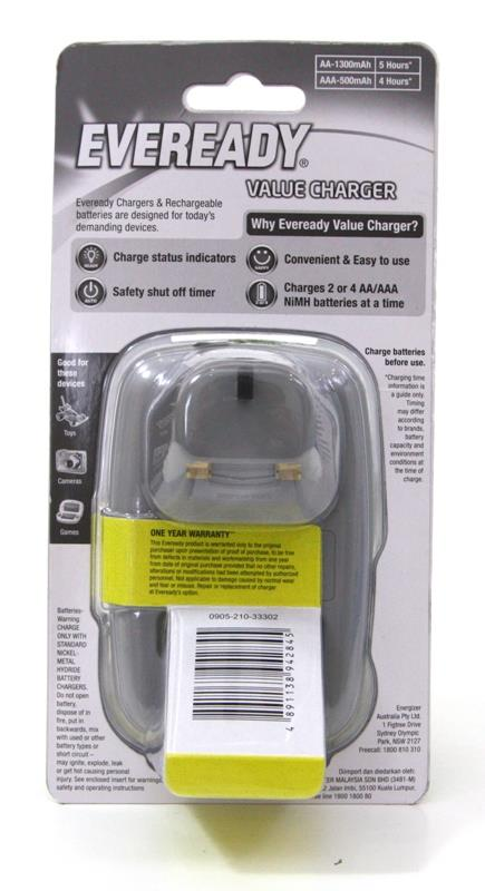 EVEREADY Rechargeable Value Charger Set AA Batteries Charger Battery
