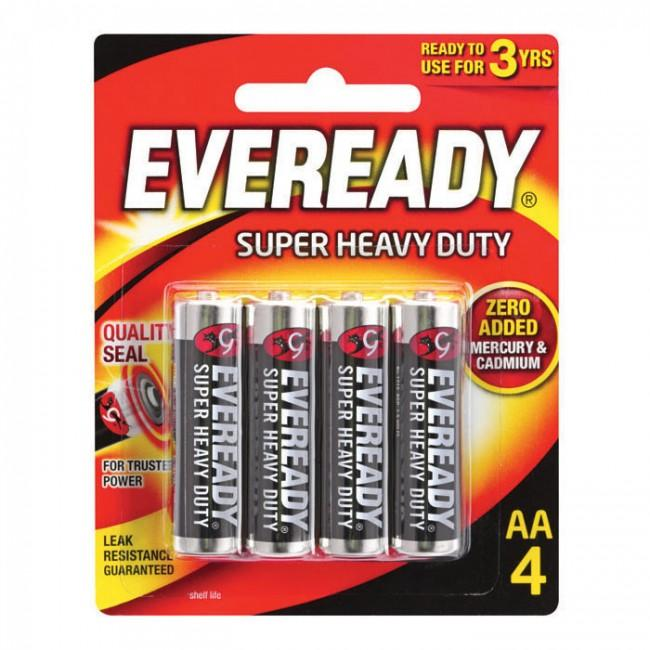 Eveready Super Heavy Duty Batteries AAA (4 Pcs)