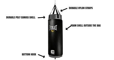 EVERLAST Boxing Muay Thai Training Gym Punching Heavy Bag Beg MMA