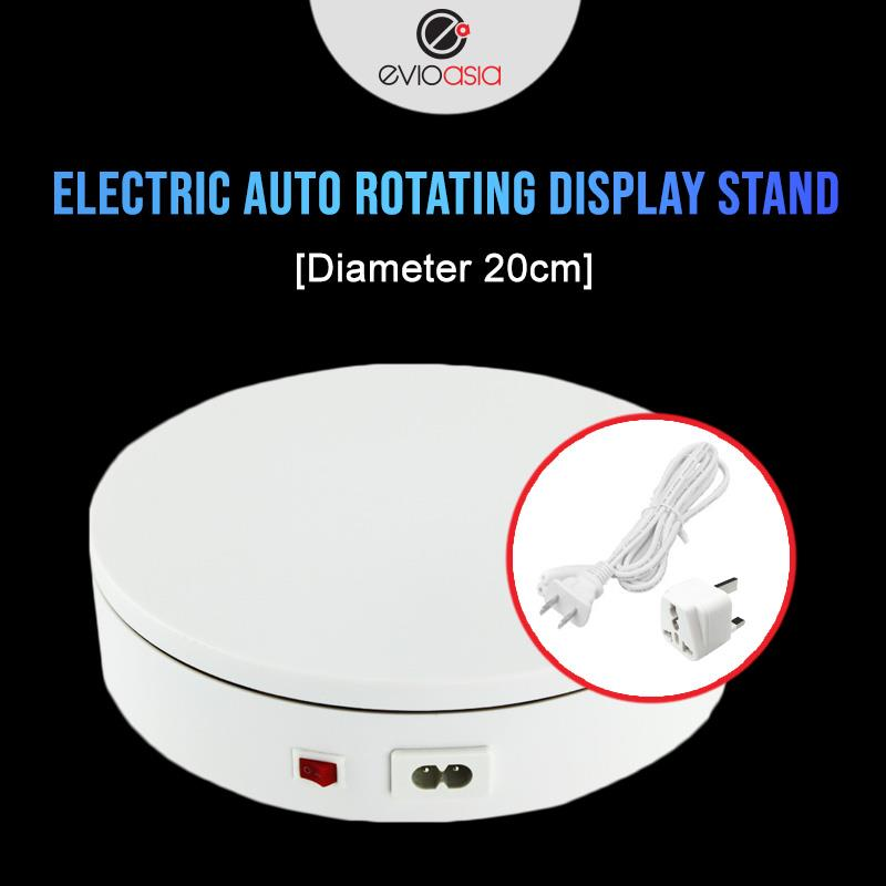 Evio Asia Electric Auto Rotating Display Stand (Diameter 20cm)