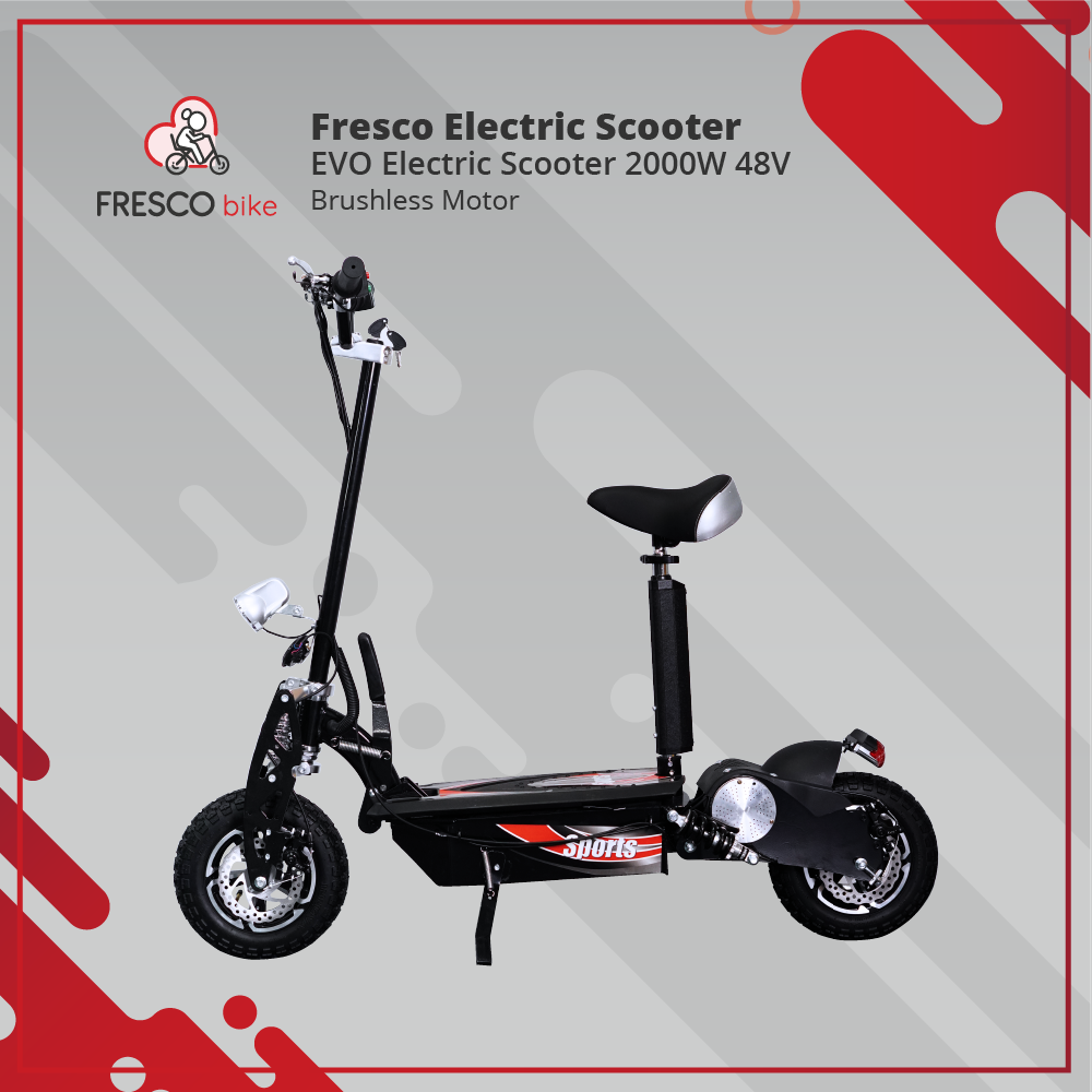EVO Electric Scooter 2000W 48V Brushless Motor