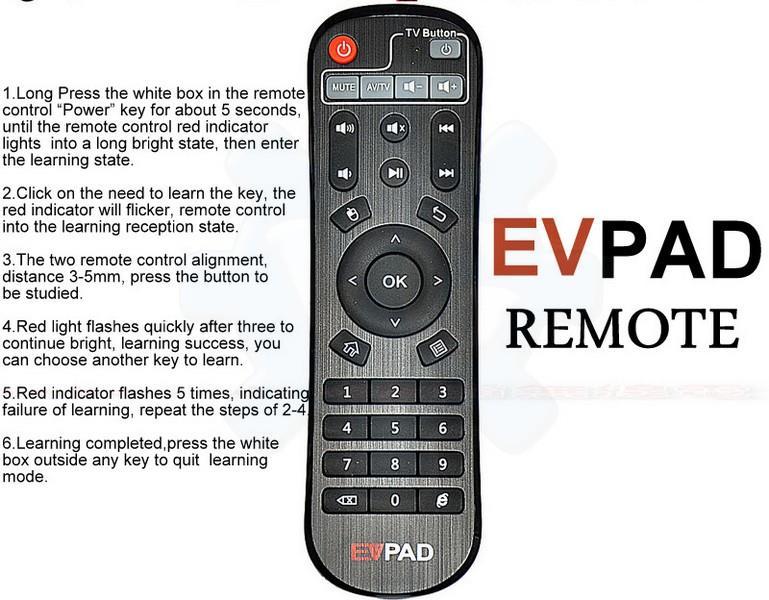 EVPAD Remote Android TV Box