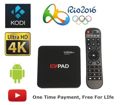 EVPAD T2 TV BOX 4K Ultra HD Android, China/HK/Taiwan/SG/Axtro Channels