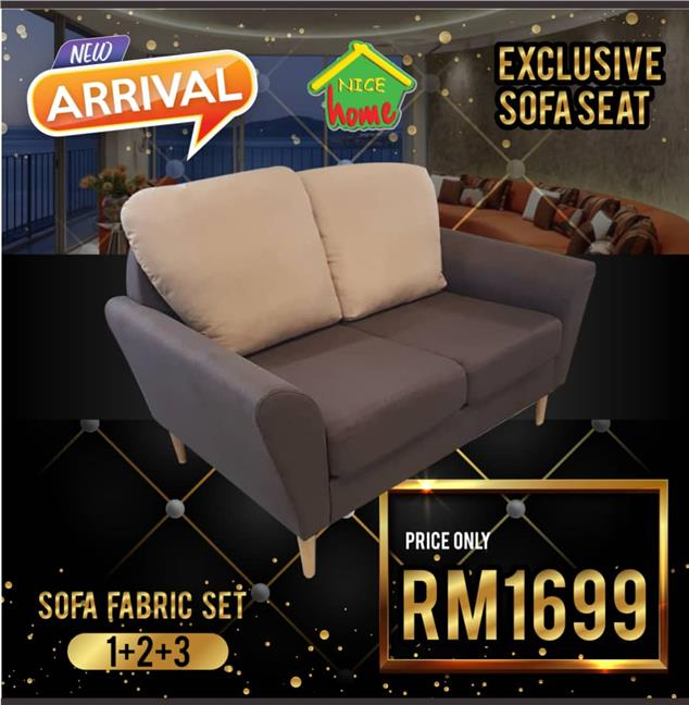 EXCLUSIVE SOFA FABRIC SET 1+2+3 RM 1699