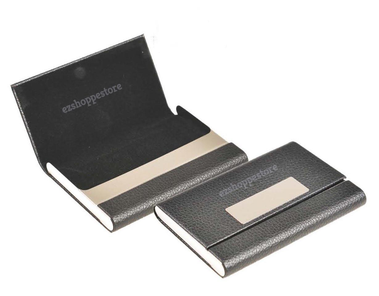 Executive Touch Excellent Quality Black Pu Leather Pocket CardHolder