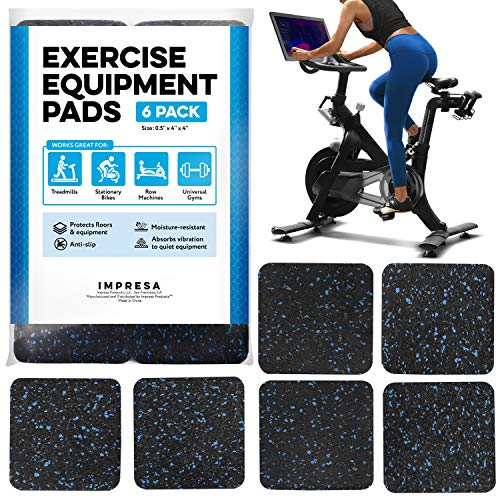 "Exercise Equipment Mat 4 "" x 4 "" x 0.5 "" Pads Pack of 6 - Tread"