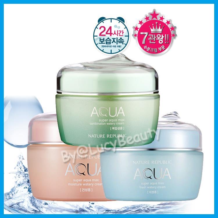 EXO NATURE REPUBLIC Super Aqua Max Combination Watery Cream Moisture. ‹ ›