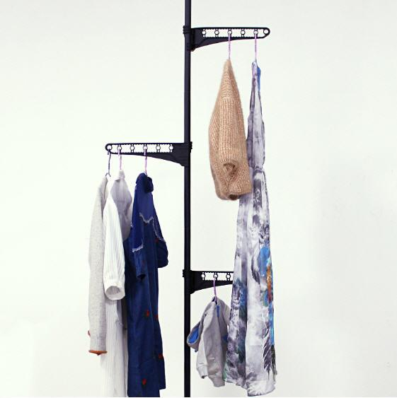 Expandable Clothes Laundry Indoor Room Hanging / Organizer Rack Pole