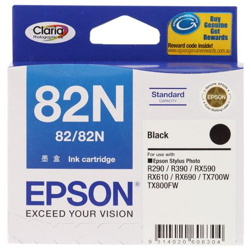Expired Epson 82N (Black) Stylus Photo RX590, RX610, RX690, T50 TX700W