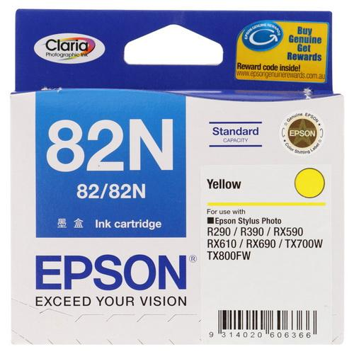 Expired Epson 82N (Yellow) Stylus Photo RX590, RX610, RX690 T50 TX700W