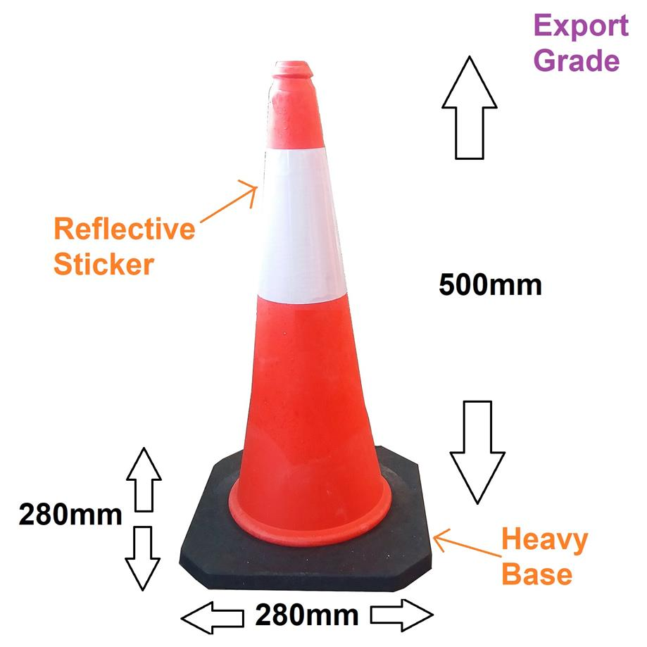 Export grade traffic block reflective safety standard parking cone