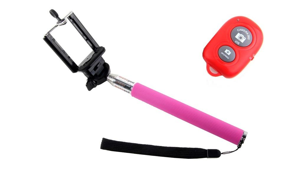Extendable Self-Portrait Monopod with Bluetooth Remote Control