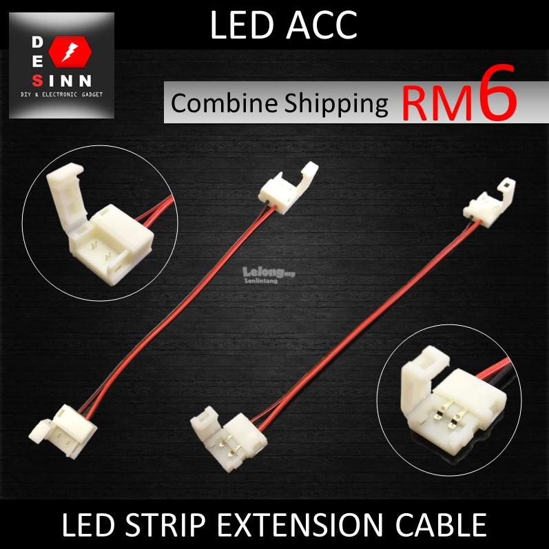 EXTENSION CABLE 2 PIN CLIP WIRE CABLE FOR 5050 SINGLE COLOR LED STRIP