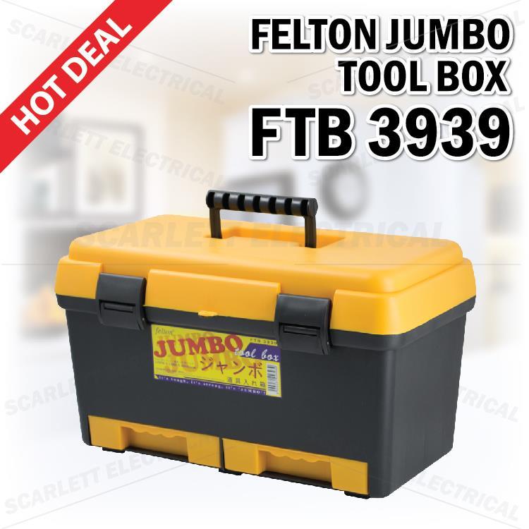 Extra Big Felton Jumbo Tool Box Ftb 3939 Diy Tool Storage Tray