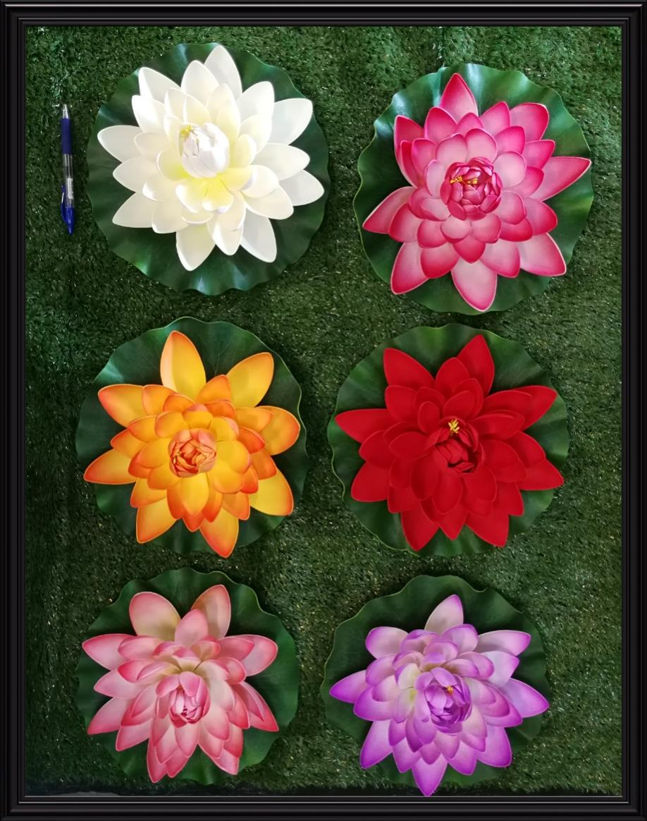 EXTRA LARGE DIAMETER 28 CM ARTIFICIAL FLOATING  LOTUS FLOWER FOUNTAIN