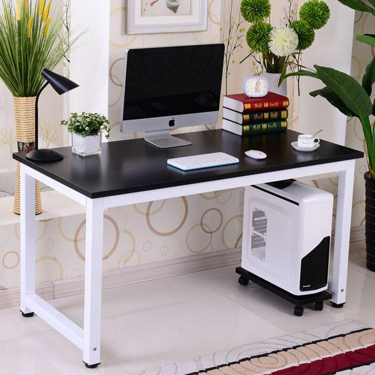 EXTRA LARGE Wooden Top + Metal Bottom Office Table Desk (120x60x75 cm)