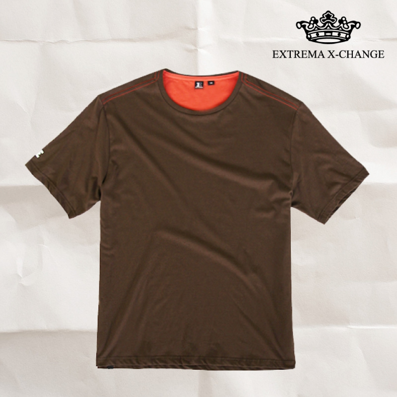 EXTREMA BIG  & TALL Round Neck T-Shirt EX1035 (Brown)