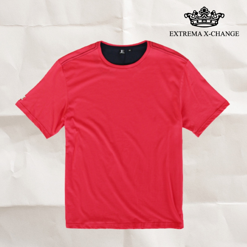 EXTREMA BIG  & TALL Round Neck T-Shirt EX1035 (Pink)