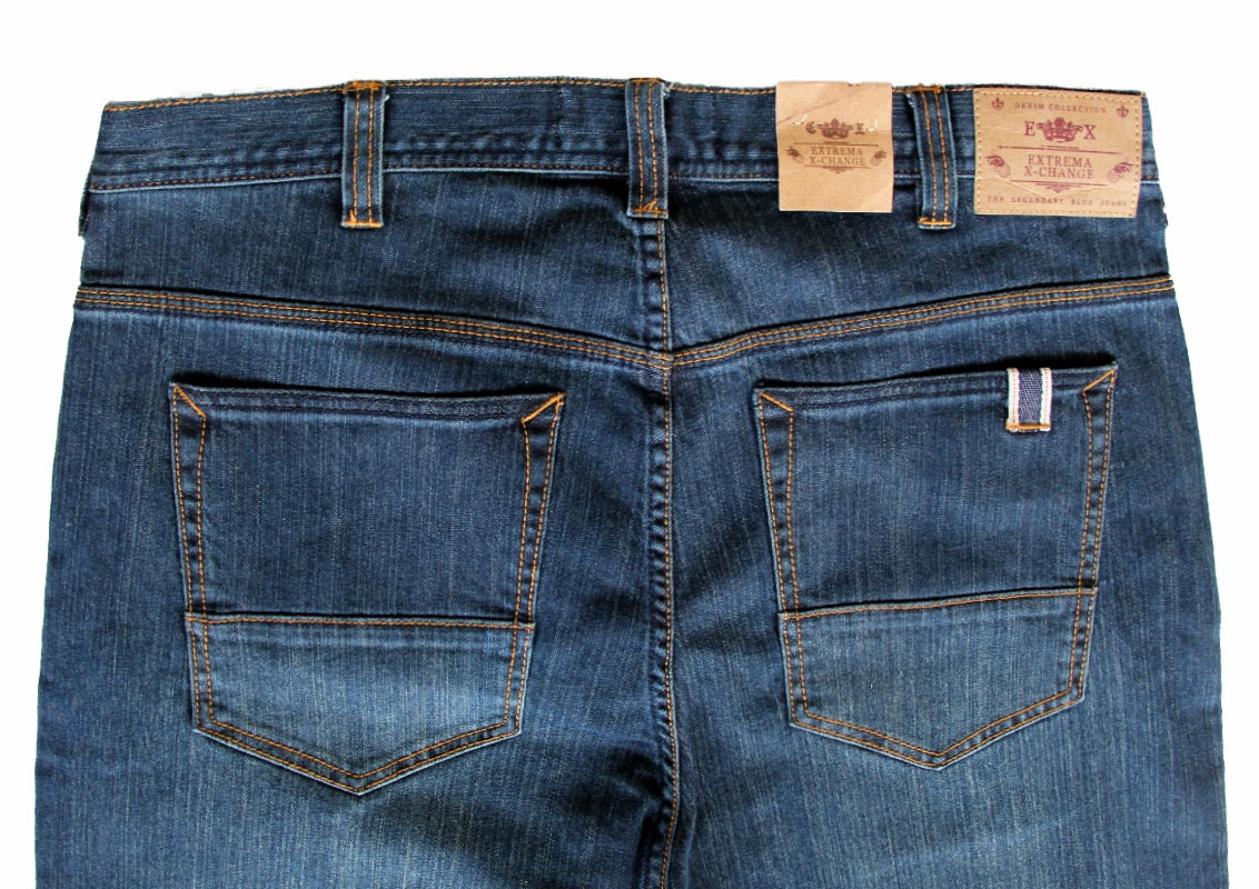 EXTREMA BIG  & TALL Stretchable Blue Jeans EXJ6028 (Blue)