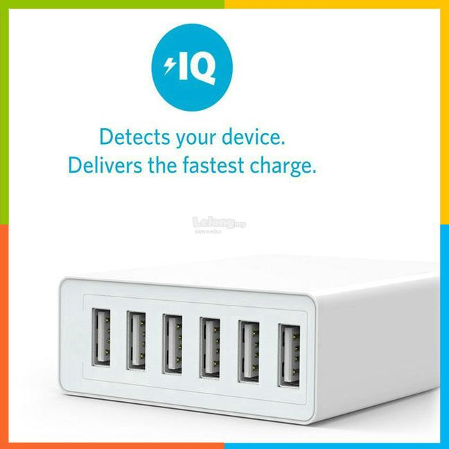 Extreme 6 USB smart fast charge charger
