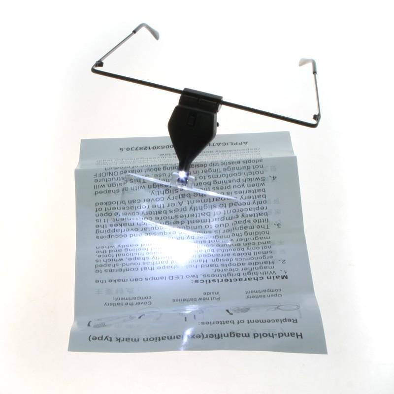 Eye glasses Magnifying Glass Magnifier LED 1.5X 2.5X 3.5X
