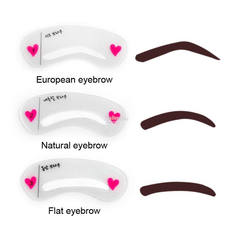 This is a picture of Accomplished Eyebrow Stencils Printable