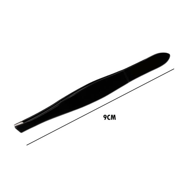 Eyebrow Tweezers Hair Beauty Square Tip Stainless Steel Tweezer Black