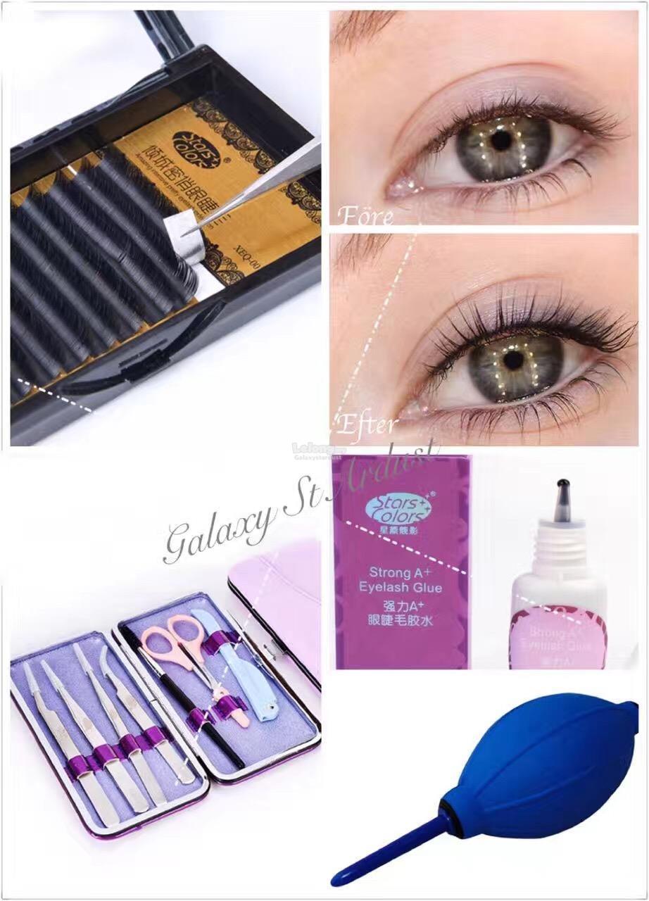 Eyelash Extension Professional Kit Essential Application Tools,Tweezer