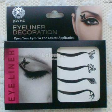 Eyeliner Rhinestone Tattoo-Thick Winged-Easy Water Transfer-Peel Off