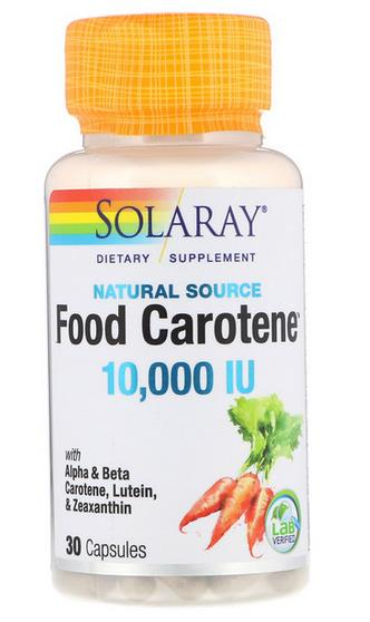 Eyes Health ~ Food Carotene 10,000 IU With Alpha & Beta Carotene (USA)