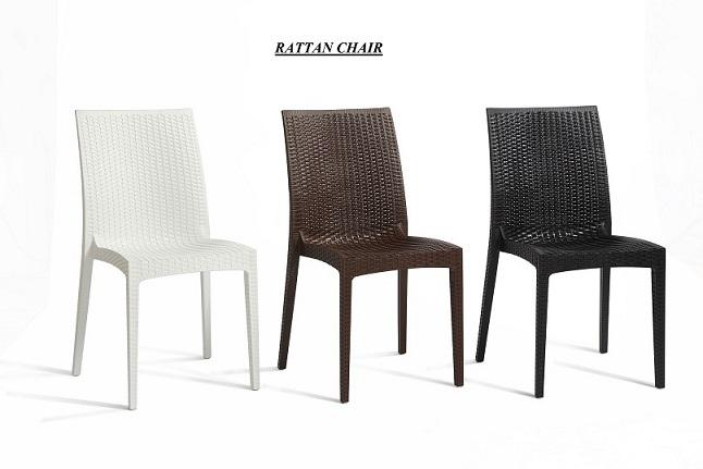 F B Plastic Rattan Dining Chair