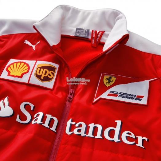 scuderia shell sponsors jacket products soft s shirt men ferrari formula mens red team w