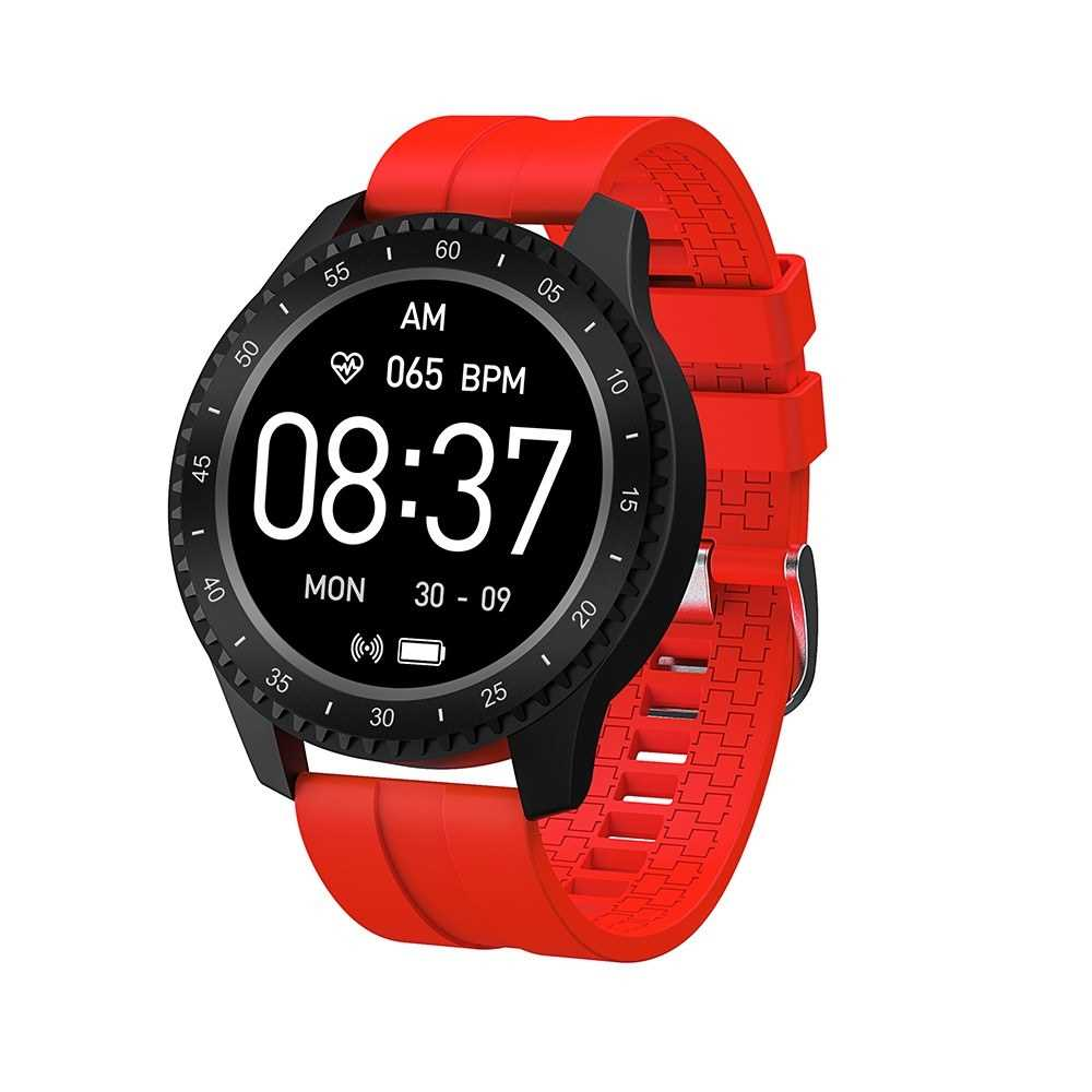 F17 IP68 Waterproof Smartwatch (Red)