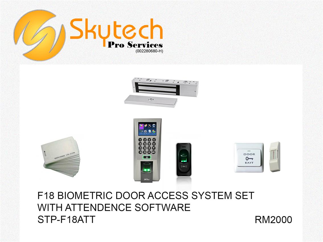 F18 BIOMETRIC FINGERPRINT ATTENDANCE SYSTEM SET