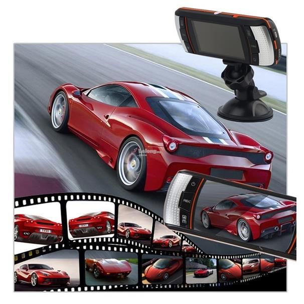 F90 2.7inch LCD Screen Tachograph Motion Detection Dual Lens Vehicle