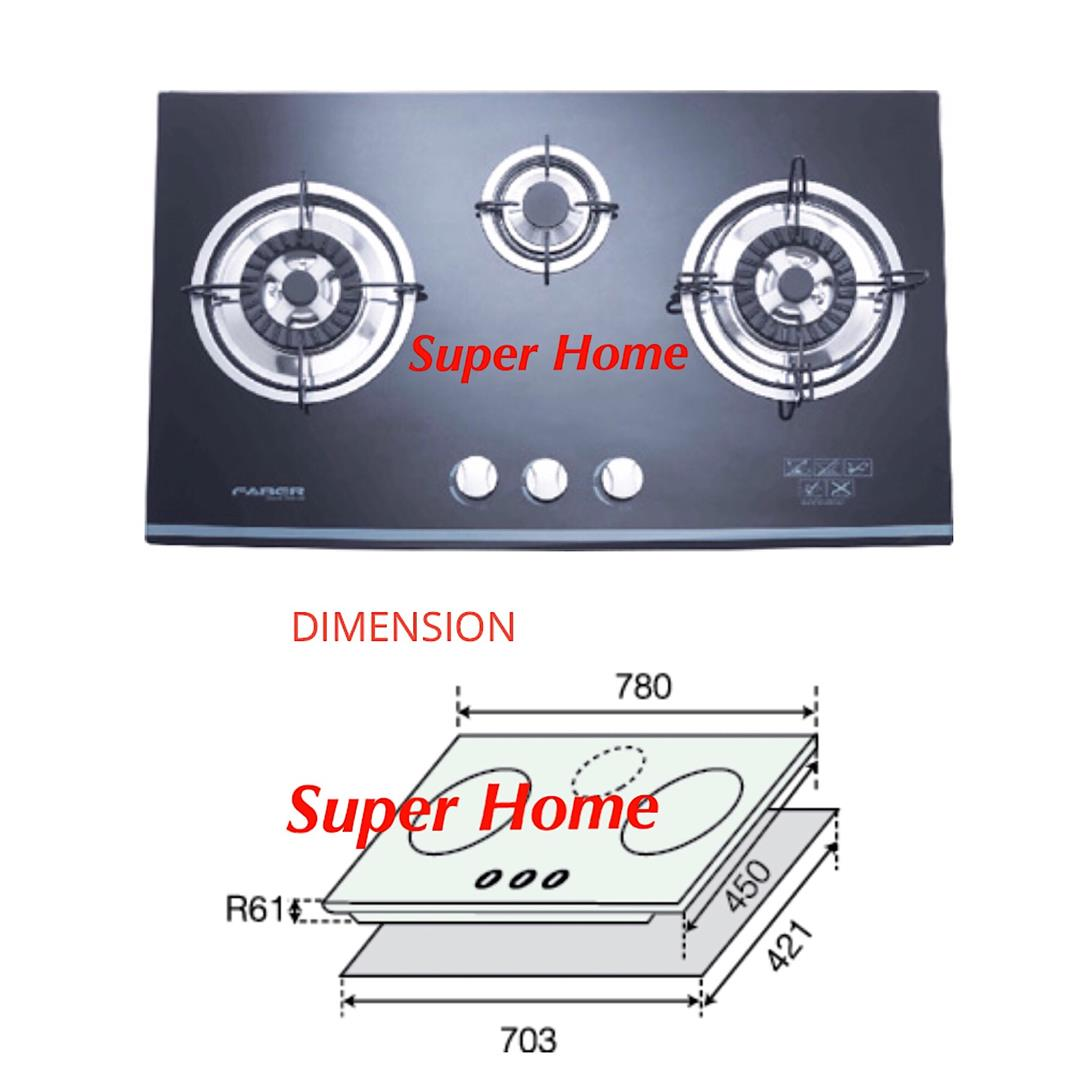 Faber Built-in Glass Hob FGH223/78 BK (end 3/6/2019 9:15 PM)