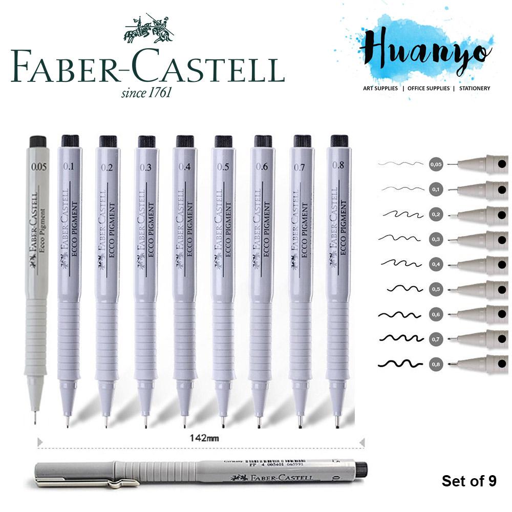 Genieße den reduzierten Preis gute Textur neues Design Faber-Castell Fiber Tip Ecco Pigment Liner Technical Drawing Pen (Per
