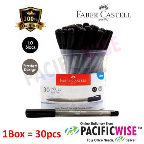 FABER CASTELL NX23 BALL PEN 1.0 (BLACK) (30'S)