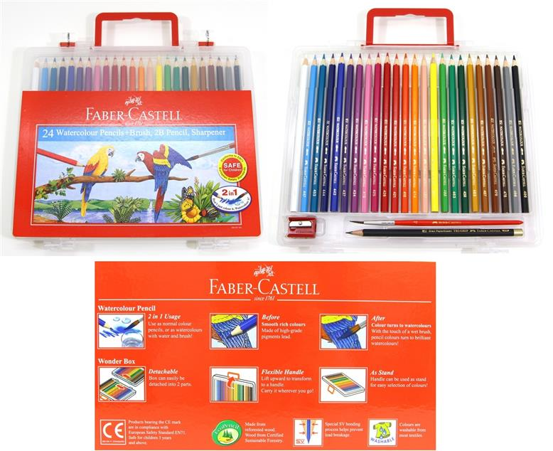 Faber-Castell Watercolour Pencils 24 L in Wonder Box