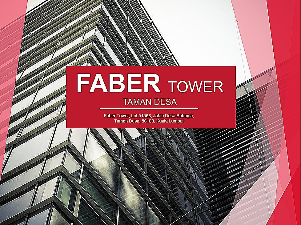 Faber Towers Office for rent, Midvalley, Taman Desa, Old Klang Road