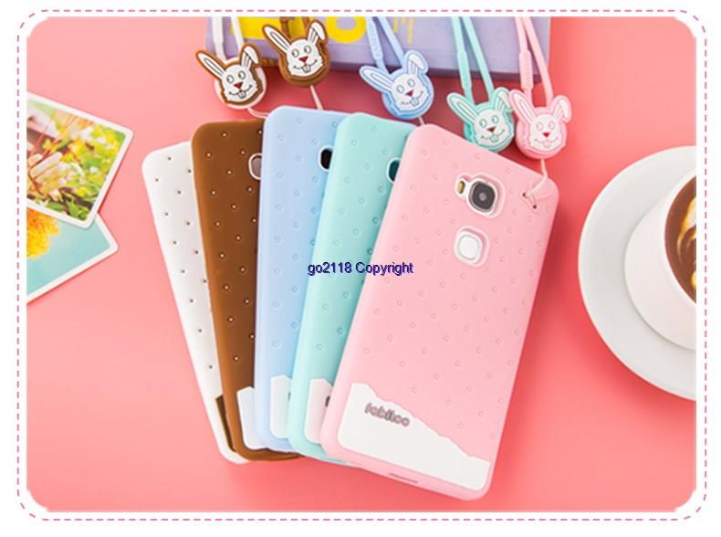 best website 8bb8d 40714 Fabitoo Huawei Honor 5X Ice Cream Silicone Soft Back Case Cover Casing