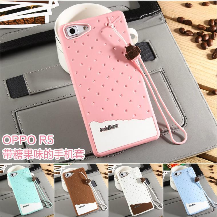 Fabitoo OPPO R5 ShakeProof Silicone Case Cover + Free SP