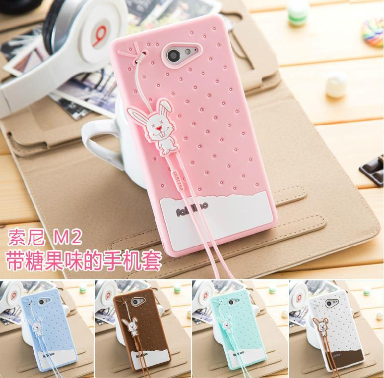 super popular 887b9 83916 Fabitoo Sony Xperia E3 M2 S50H ShakeProof Silicone Case Cover +Free SP