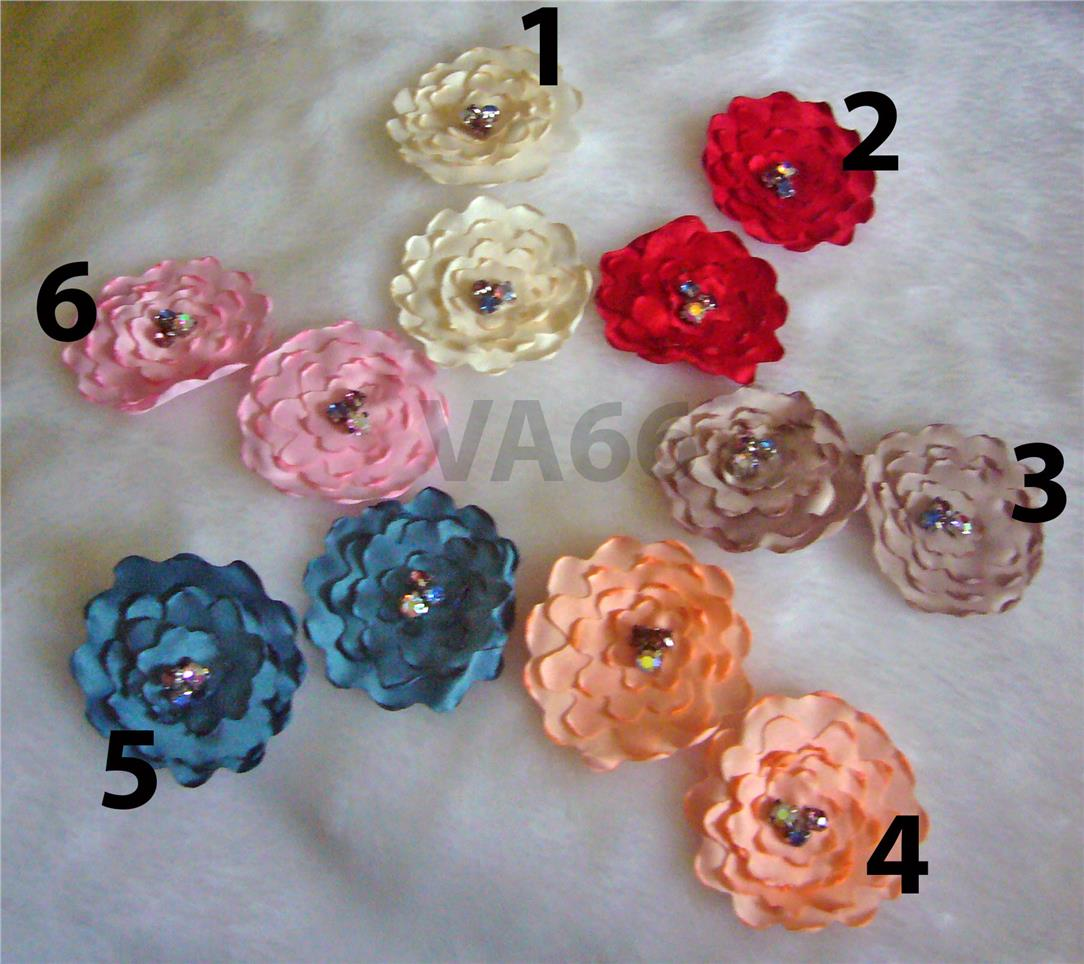 Fabric Flower Appliques A2, Sew On Embellishment, Wedding Decoration